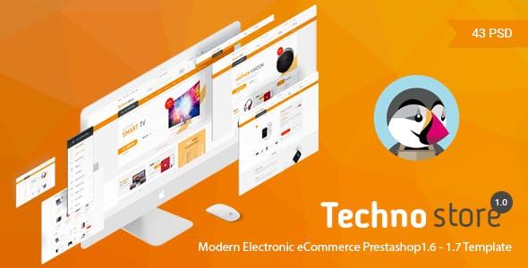 Technostore Responsive Prestashop 1.6 & 1.7 Theme