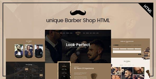 Unique - Barber Salon HTML Template