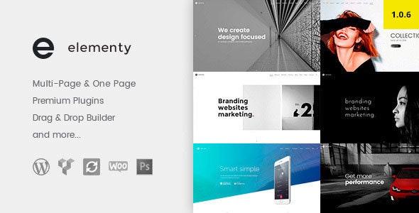 Elementy - Multipurpose One & Multi Page WordPress Theme - Business Corporate