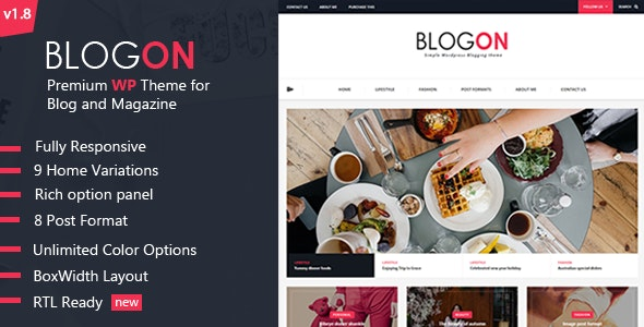 Blogon - WordPress Blog Theme - Personal Blog / Magazine