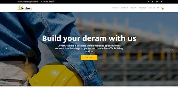 BUILDWALL – A Lightweight & Modern Construction Template