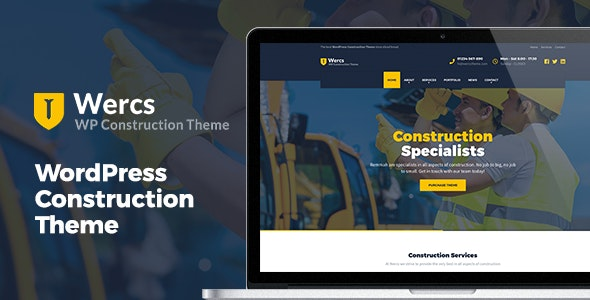 Wercs - WordPress Construction Theme - Business Corporate
