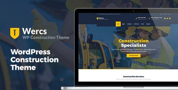 Wercs - WordPress Construction Theme