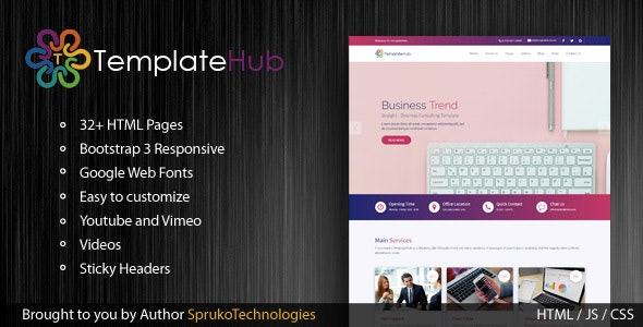 TemplateHub - Multipurpose and Business HTML5 responsive template - Site Templates