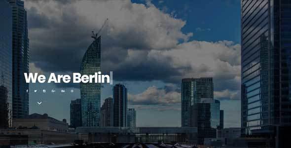 Berlin - Portfolio Responsive Muse Template - Creative Muse Templates