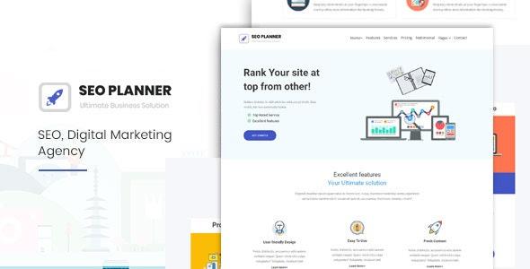 Seoplanner-Digital Marketing Agency - Technology Site Templates