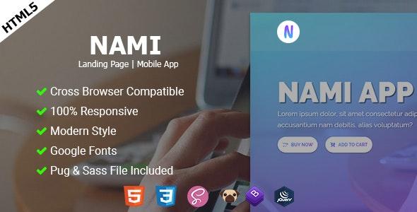 Nami App | Landing page - Site Templates