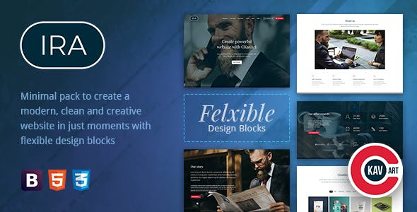 Creative One Page HTML Template - IRA