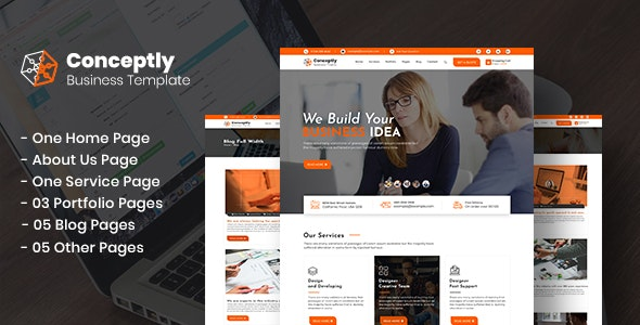 Conceptly - Business, Finance PSD Template - Business Corporate