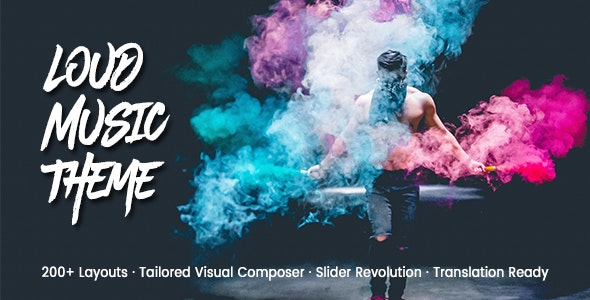 Loud v2.1.3 – A Modern WordPress Theme for the Music Industry