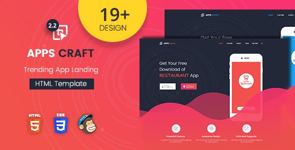 Apps Craft - App Landing Page - Landing Pages Marketing