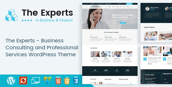 The Experts - Business Consulting and Professional Services WordPress Theme - Business Corporate