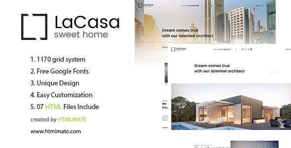 LaCasa – Real Estate HTML Template - Business Corporate