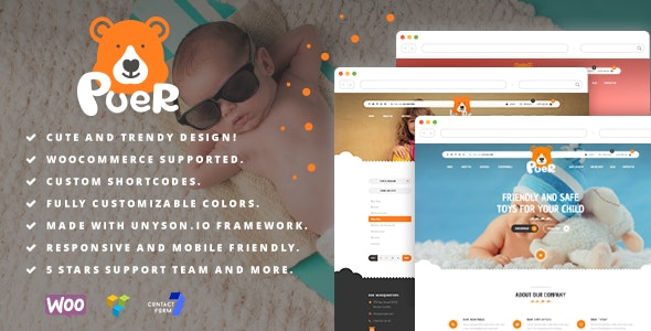 Puer - Kids Products and Parties WooCommerce Theme - Children Retail