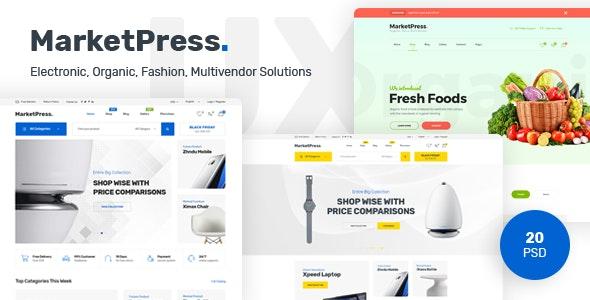 MarketPress - Multipurpose E-commerce &  Multivendor PSD Template - Shopping Retail