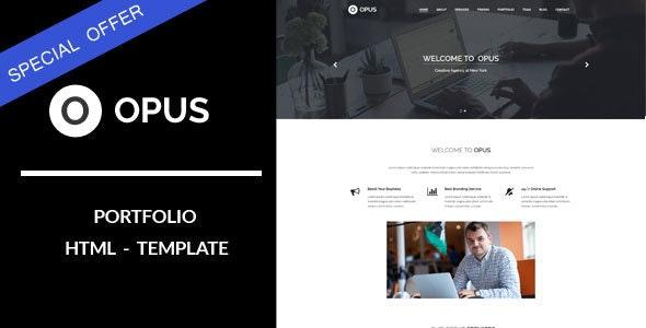 Opus : Portfolio HTML Template - Portfolio Creative