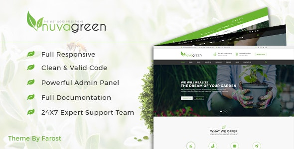NuvaGreen - Landscape & Gardening WordPress Theme - Business Corporate