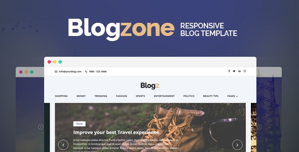 Blogzone - Responsive Blog  Template - Miscellaneous Site Templates