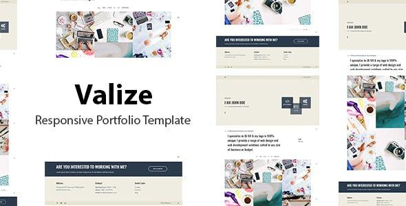 Valize - Responsive Portfolio Template