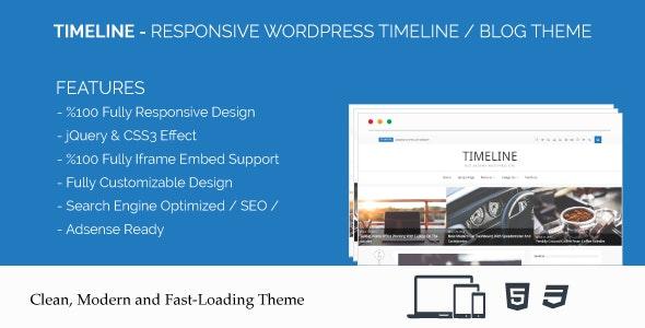 Timeline - Responsive WordPress Timeline / Blog Theme - News / Editorial Blog / Magazine