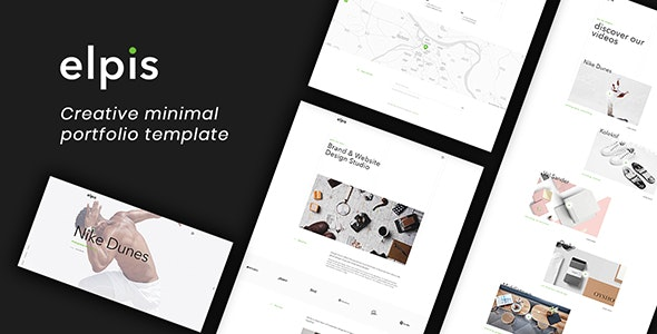 Elpis - Creative Minimal Portfolio Template - Creative Site Templates