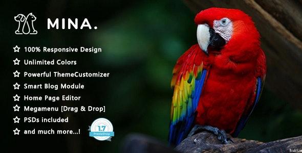 Mina - Pet Shop Responsive PrestaShop 1.7 Theme - Shopping PrestaShop