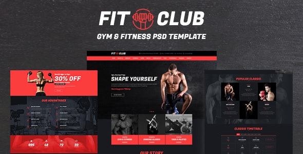 FITCLUB - Gym and Fitness Landing Page - Health & Beauty Retail