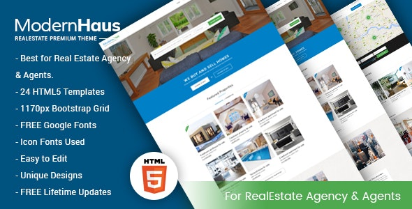 ModernHaus - Real Estate HTML Template - Business Corporate