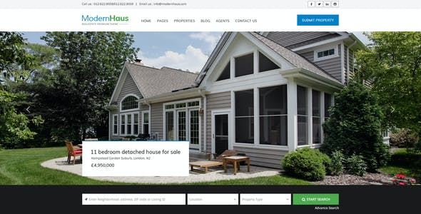 ModernHaus - Real Estate HTML Template