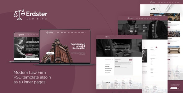 Erdster - Law Firm PSD Template - Business Corporate