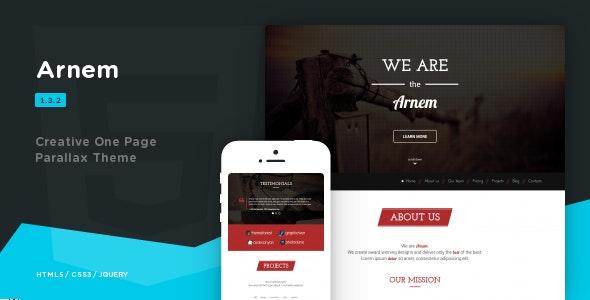 Arnem - Creative One Page Parallax Theme - Creative Site Templates