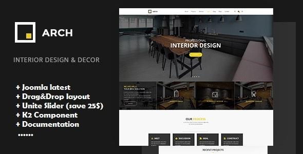 Arch - Interior Design Joomla Template - Portfolio Creative