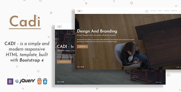 CADI - Is A Portfolio & Resume Template - Personal Site Templates