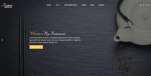 Restoni Restaurant PSD Template