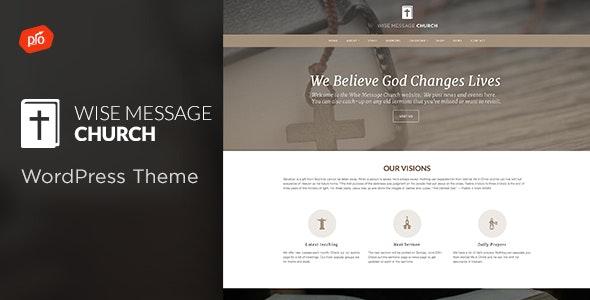 Wise Message - Church WordPress Theme - Churches Nonprofit