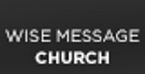 Wise Message - Church WordPress Theme