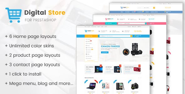 Digital Store - Prestashop Theme for Electronics, Phones, Cameras and Computers Stores