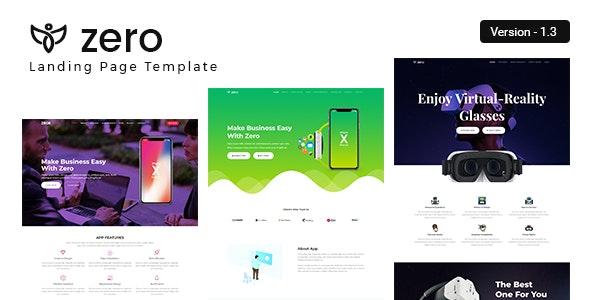 ZERO - App Landing Page - Marketing Corporate