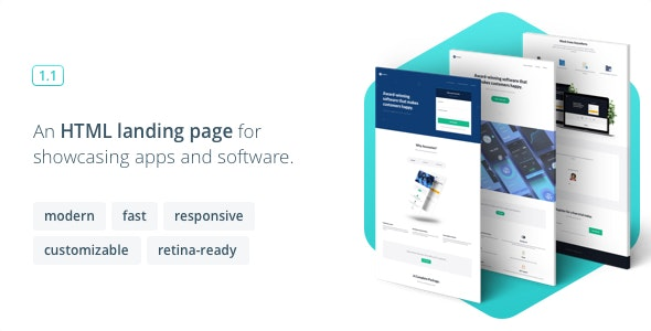 Ascension - Responsive Landing Page for Apps and Software - Corporate Landing Pages