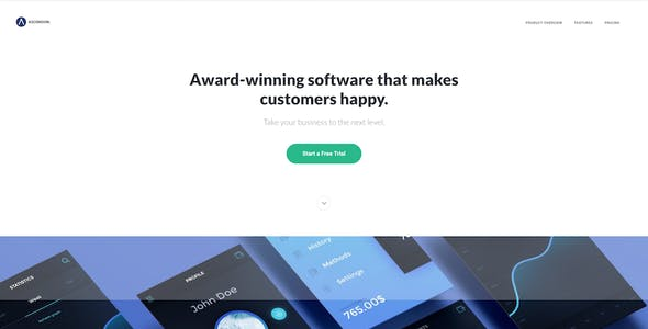 Ascension - Responsive Landing Page for Apps and Software