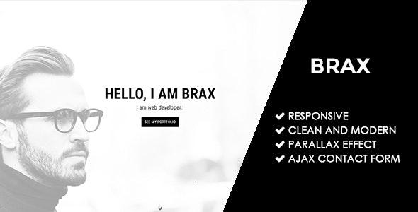 Brax | Responsive Personal Portfolio Template - Personal Site Templates