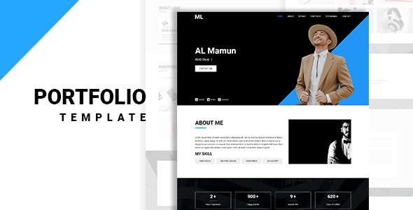 ML Portfolio - Creative and Professional HTML Template - Portfolio Creative