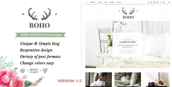 Bohopeople Personal WordPress Blog Theme - Personal Blog / Magazine