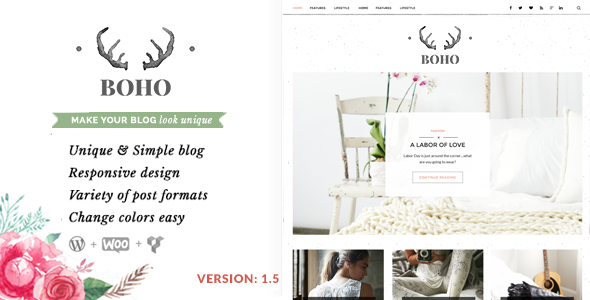 Bohopeople Personal WordPress Blog Theme - Personal Blog / Magazine