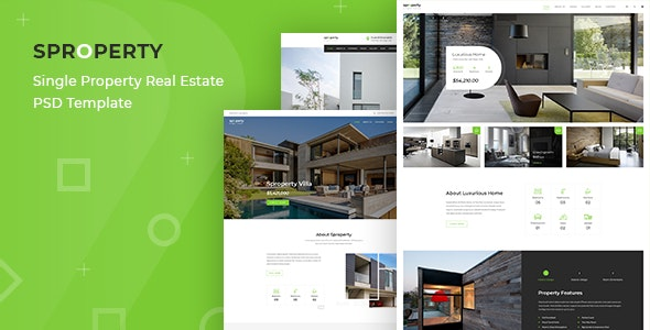 Sproperty - Single Property Real Estate PSD Template - Business Corporate