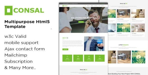 CONSAL - Multi-purpose HTML5 Template - Business Corporate