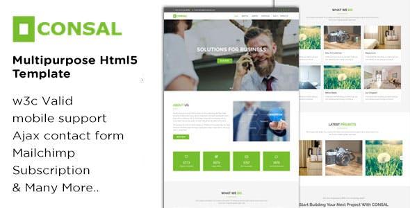 CONSAL - Multi-purpose HTML5 Template