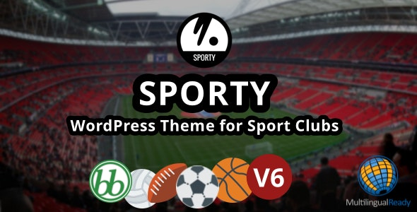 SPORTY-Responsive WordPress Theme for Sport Clubs - Nonprofit WordPress