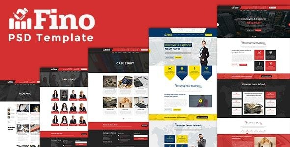 Fino - Consulting & Finance & Business PSD Template - Corporate Photoshop