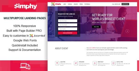 Simphy - Creative Multipurpose Joomla Landing Templates with Page Builder - Joomla CMS Themes